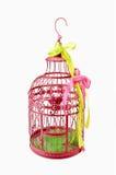 Pink birdcage Stock Photos