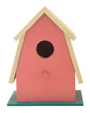 Pink birdhouse Royalty Free Stock Photo