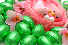 Easter eggs and birds Royalty Free Stock Photo