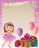 Pink birthday background Stock Photography