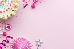Pink birthday background Royalty Free Stock Image