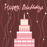 Pink Birthday Cake Royalty Free Stock Images