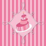 Pink Birthday Cake Royalty Free Stock Photos
