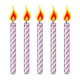 Pink Birthday Candles Stock Photography
