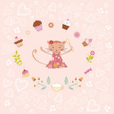 Pink birthday card Royalty Free Stock Image