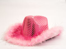 Pink Birthday Cowgirl Hat Stock Images