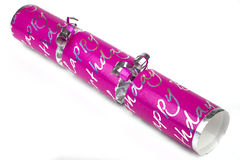 Pink Birthday Cracker Royalty Free Stock Images