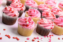 Pink Birthday Cupcakes Royalty Free Stock Photography