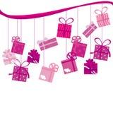 Pink Birthday present royalty free illustration