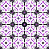 Pink and Black Abstract Seamless Pattern on a White Background Stock Photos