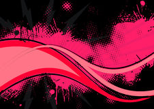 Pink and black background. A background with splashes of pink on black Royalty Free Stock Photography