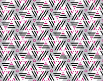 Pink and black color stripes seamless pattern. Royalty Free Stock Photography