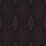 Pink and Black Damask Pattern Royalty Free Stock Photo