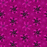 Pink and black floral pattern Royalty Free Stock Photo