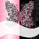 Pink-black vintage romantic frame Stock Images