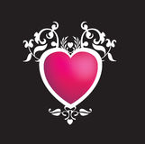 Pink and black funky heart Stock Photography