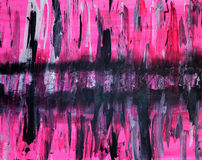 Pink black and grey abstract painting Royalty Free Stock Image