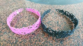 Pink and black hairbands Royalty Free Stock Photo