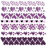 Pink and black heart trim collection Royalty Free Stock Photo