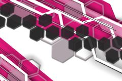 Pink and black hexagon, abstract background Royalty Free Stock Photos