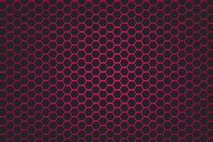 Pink and black hexagon background Royalty Free Stock Image