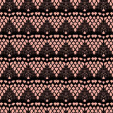 Pink and black lace seamless stripes pattern. Stock Photography