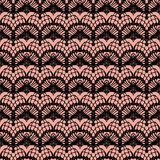 Pink and black lace seamless stripes pattern. Royalty Free Stock Image