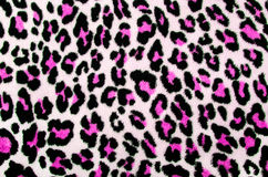 Pink and black leopard pattern. Spotted fur animal print as background Stock Images