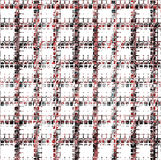 Pink and black mosaic repeated pattern and design. Pink and black mosaic repeated shapes and forms in gray, white and pink hues on white background. Abstract Royalty Free Stock Images