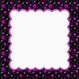 Pink and Black Polka Dot Frame Background Royalty Free Stock Photo