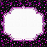 Pink and Black Polka Dot Frame Background Royalty Free Stock Photos