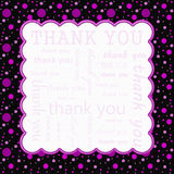 Pink and Black Polka Dot Thank You Frame Background Royalty Free Stock Image