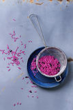 Pink and black rice Royalty Free Stock Images