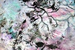 Pink black soft background, hues, watercolor paint background. Pink black background, in blue green phosphorescent hues, blurred vivid texture, colors, shades vector illustration