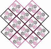 Pink black spiral background Stock Photos
