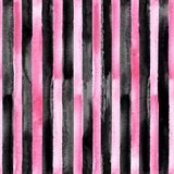Pink and black striped seamless pattern vector illustration