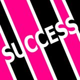 Pink and black Success symbol Stock Photography