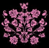 Pink on black symmetrical pattern Stock Photos