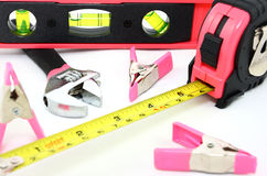 Pink and Black Tools Stock Images