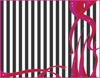 Pink black white abstract. Pink abstract on a black and white striped background Royalty Free Illustration