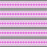 Pink, Black and White Polka Dot  Abstract Design Tile Pattern Re Royalty Free Stock Images