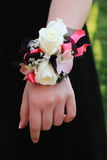 Pink Black and White Prom Corsage Stock Image