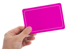 Pink Blank Card Stock Photo