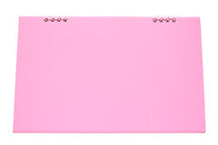 Pink blank desktop calendar with isolated Stock Photos