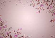Pink blank paper Stock Photo