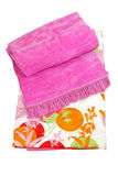 Pink blanket Stock Photo