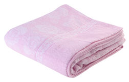 Pink blanket on the white background Stock Photography