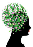 Pink blossom on head Stock Photo