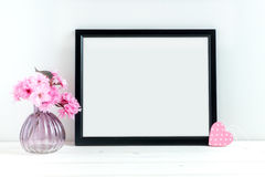 Pink Blossom styled stock photography Royalty Free Stock Images