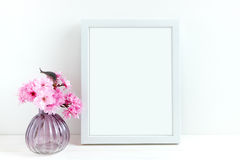 Pink Blossom styled stock photography Royalty Free Stock Image